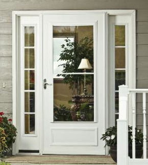Storm doors wichita custom front doors from window world for Retractable screen door replacement