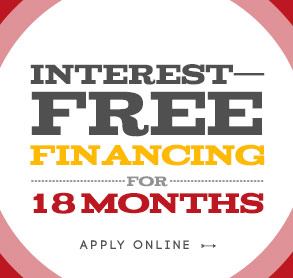 Interest-Free Financing For 18 Months