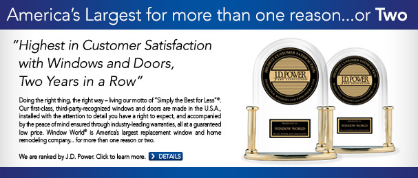 Recognized by J.D. Power & Associates Windows Huntsville