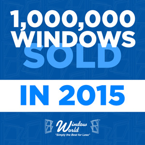Window World Celebrates 1,000,000th Window Sold in 2015