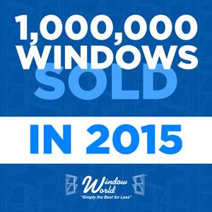 Window World Celebrates 1,000,000th Window Sold in 2015