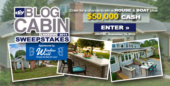 DIY Blog Cabin Sweepstakes