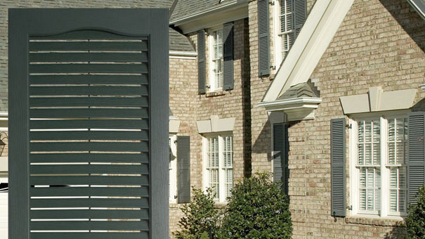 Louvered Vinyl Shutters