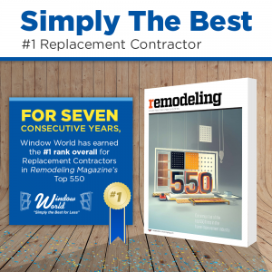 Window World Named #1 Replacement Contractor by Remodeling Magazine