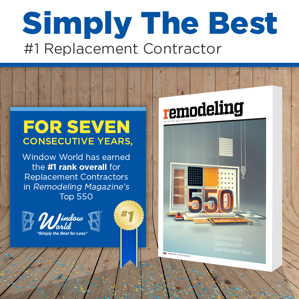 Window world named 1 replacement contractor by remodeling for Window replacement contractor
